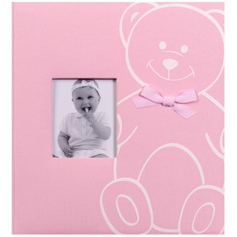 Detský fotoalbum na rožky NEW BABY BEAR ružový