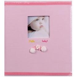 Detský fotoalbum na rožky BABY POMPON 29x32/60s. ružový