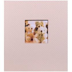 Detský fotoalbum na rožky LOVELY TEDDY svetlý