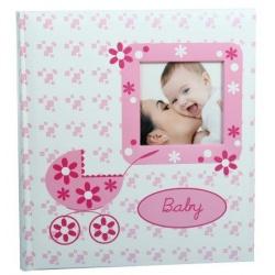 Detský fotoalbum na rožky BABY BUGGY ružový