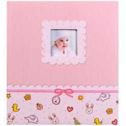 Detský fotoalbum na rožky YOUNG BABY ružový