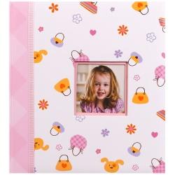 Detský fotoalbum na rožky HAPPY KIDS ružový