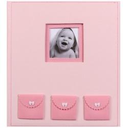 Detský fotoalbum na rožky BEBE ružový