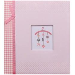 Detský fotoalbum na rožky BABY MOBILEE ružový