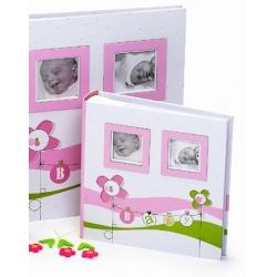Detský fotoalbum na rožky LUCKY BABY 29x32/60s. ružový