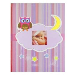 Detský fotoalbum 10x15/300 OWL ružový