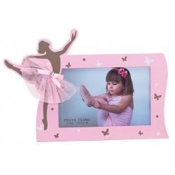 Detský fotorámik BABY BALLERINA 15x10 ružová