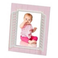 Detský fotorámik BABY WINDOW 13x18 ružový