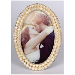 Svadobný perlový oválny fotorámik 10x15 PEARL OVAL