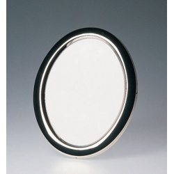 Oválny kovový fotorámik 13x18 BRASIL strieborný