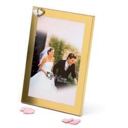 Svadobný fotorámik 13x18 WEDDING HEARTS zlatý