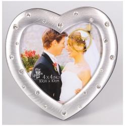 Kovový fotorámik LOVE COUPLE 10x10 strieborný