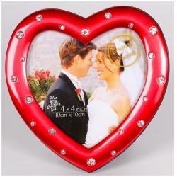 Svadobný fotorámik 10x10cm LOVE COUPLE červený