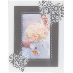 Sklenený svadobný fotorámik 10x15 SWEET HEART