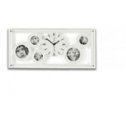 Fotohodiny biele kapacita 5xfoto rozmer 60x27,5cm