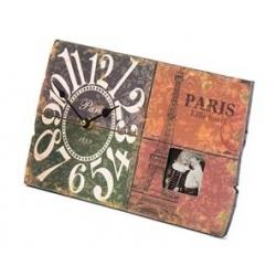 Svetlé fotohodiny Paris 30x18,2cm