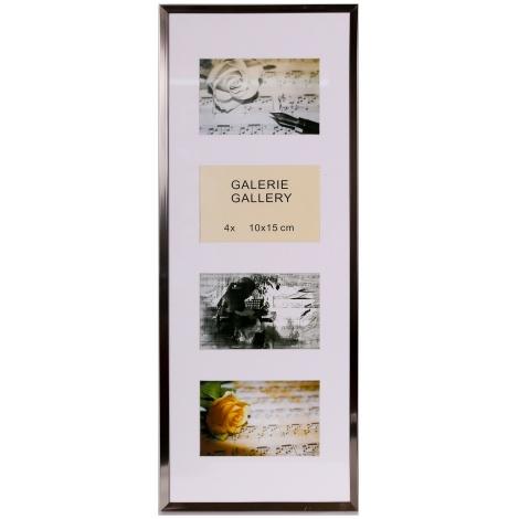 GALÉRIA TIMELESS 4 foto 10x15 oceľová-stahl