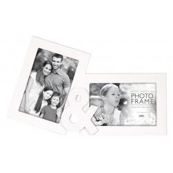 Biely fotorámi na viac fotiek TY a JA 2 fotografie 10x15