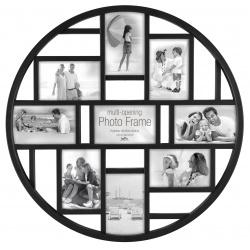 Okrúhly čirny fotorámik na viac fotiek 9f