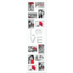 Fotorámik na viac fotiek na stenu LOVE 12 foto 10x15