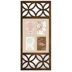 Bronzový fotorámik na viac fotiek s dekoratívnym zrkadlom