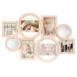 Detský ružový fotorámik na viac fotografií so zrkadielkami