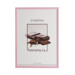 Drevený fotorámik DR0C1K 13x18 C7 ružový