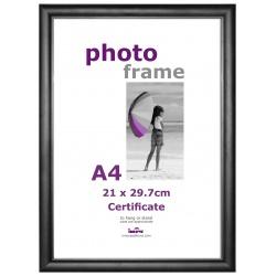 Plastový fotorámik A4(21x29,7) čierny plexi