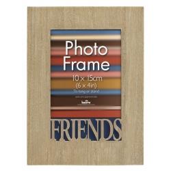 Drevený fotorámik 10x15 s vyrezaným detailom Friends