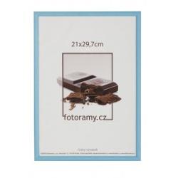 Drevený fotorámik DR0C1K 15x21 C4 svetlo modrý