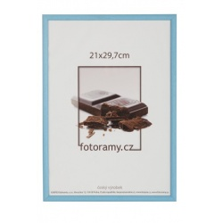 Drevený fotorámik DR0C1K 18x24 C4 svetlo modrý