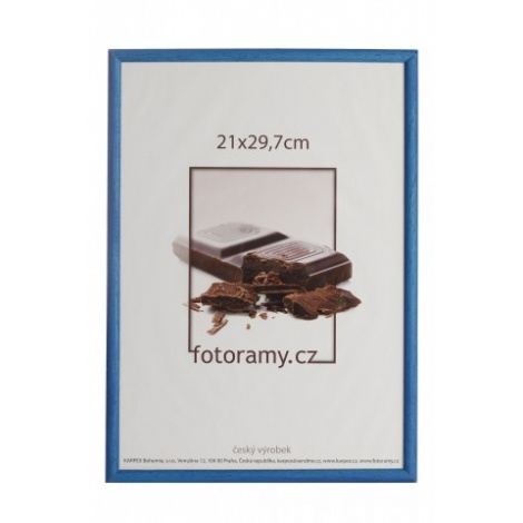 Drevený fotorámik DR0C1K 20x30 C2 tmavo modrý