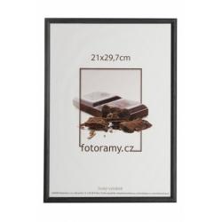 Drevený fotorámik DR0C1K 21x29,7 A4 C1 čierny