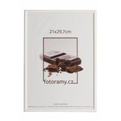 Drevený fotorámik DR0C1K 21x29,7 A4 C11 biely