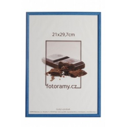 Drevený fotorámik DR0C1K 21x29,7 A4 C2 tmavo modrý