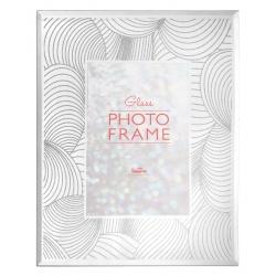 Sklenený fotorámik s trblietkami 10x15