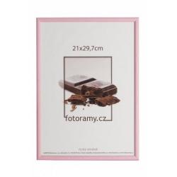 Drevený fotorámik DR0C1K 21x29,7 A4 C7 ružový