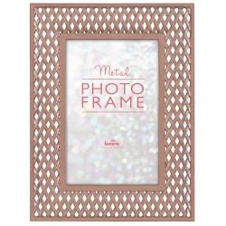 Kovový fotorámik 10x15 Latice ružové zlato