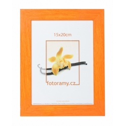 Drevený fotorámik DRC11K 10x15 C6 oranžový