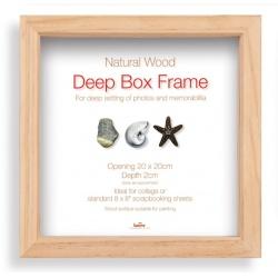Hlboký fotorámik BOX 30x30cm natural