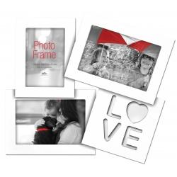 Fotorámik na viac fotiek LOVE na 3 foto