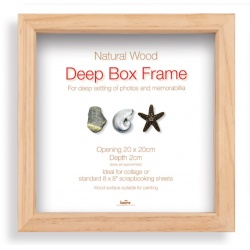 Hlboký fotorámik BOX 20x20cm natural