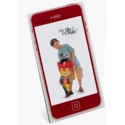Detský akrylový fotorámik 10x15 KIDS MOBIL červený