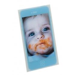 Detský akrylový fotorámik MOBIL 10x15 modrý