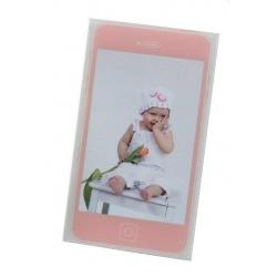 Detský akrylový fotorámik MOBIL 10x15 ružový