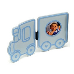 Detský fotorámik BABY OVERAL 4,5 cm modrý