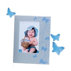 Detský modrý fotorámik 10x15 SMART BUTTERFLY