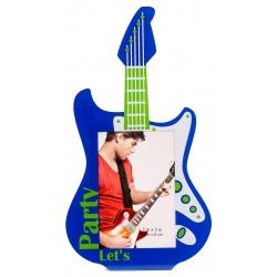 Akrylový fotorámik 5x8 PLAY GUITAR modrý
