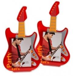 Akrylový fotorámik 5x8 PLAY GUITAR červený