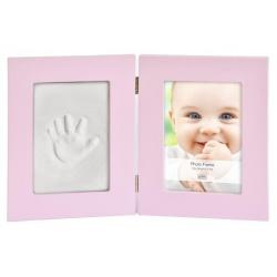 Detský set na odtlačky a fotku 13x18cm BabyKeepsake ružový